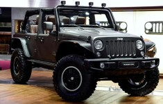 Jeep Wrangler Unlimited Rubicon Stealth Concept Front And Side Angle