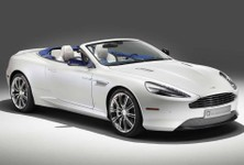 Aston Martin DB9 Volante Morning Frost By Q Front And Side Angle