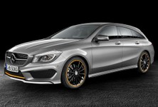 Mercedes Benz CLA Shooting Brake Side And Front
