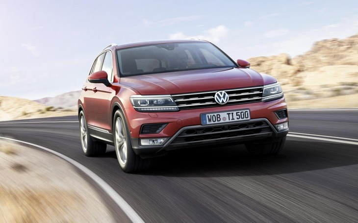 New VW Tiguan Front