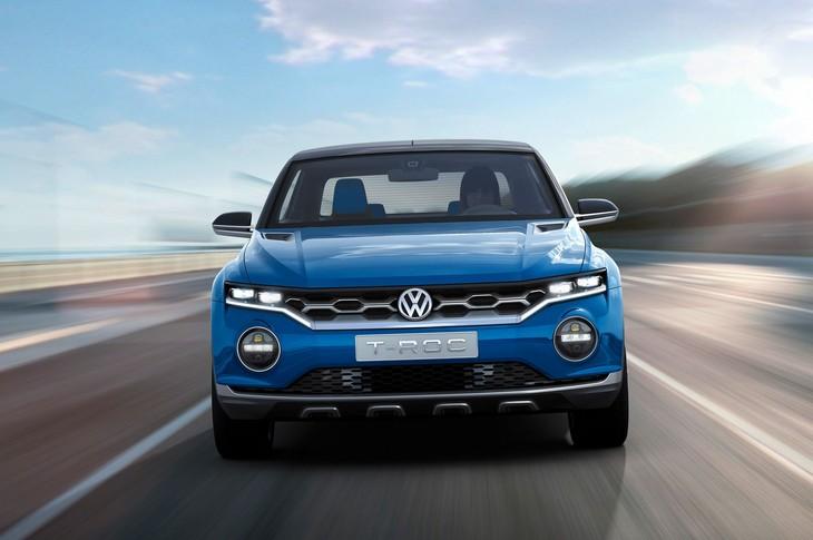 Volkswagen T Roc Concept Front View On Road