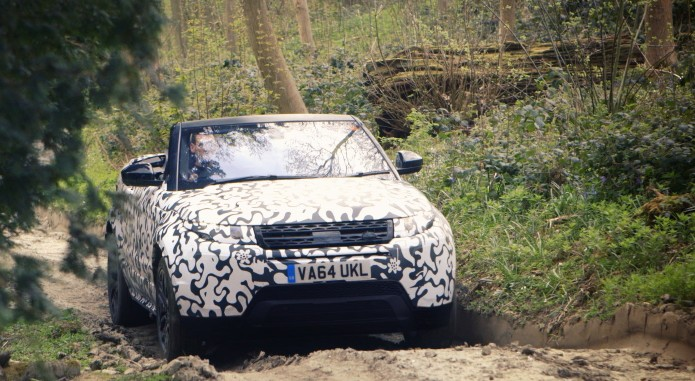 Range Rover Evoque Convertible Testing At Eastnor 4