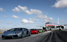 Lamborghini Aventador Roadsters Take Over Miami International Airport