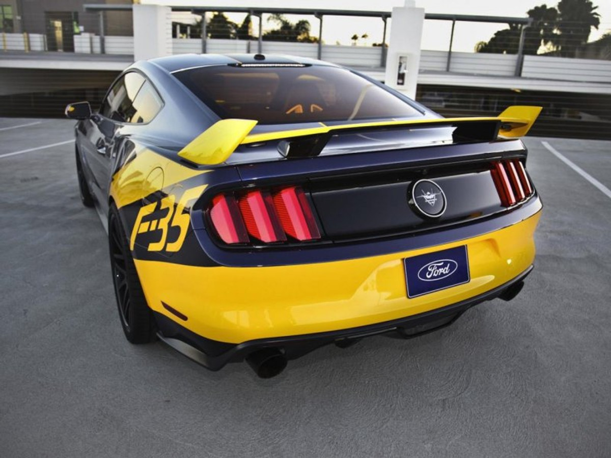 2015 ford mustang gt f 35 lightning ii edition rear view