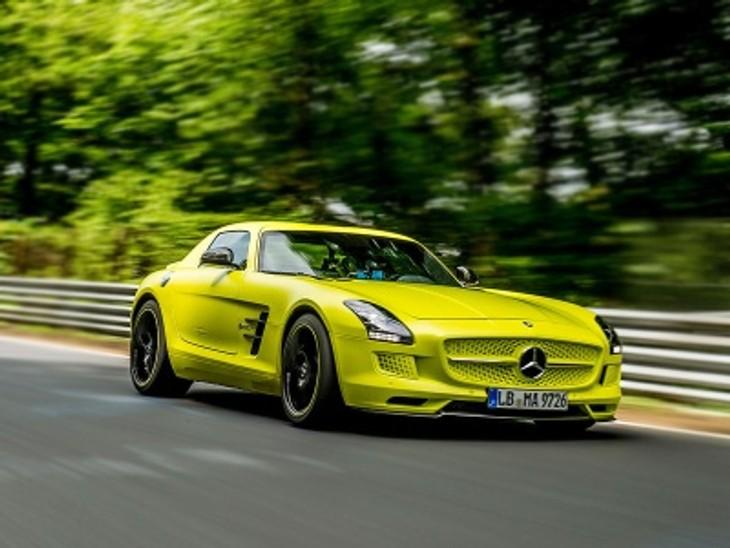 Mercedes Benz Sls Amg Electric Drive Sets New Record