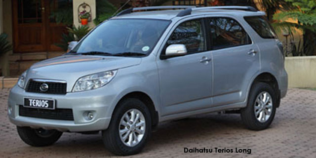 Daihatsu Terios Long 1.5 4x4 Specs In South Africa
