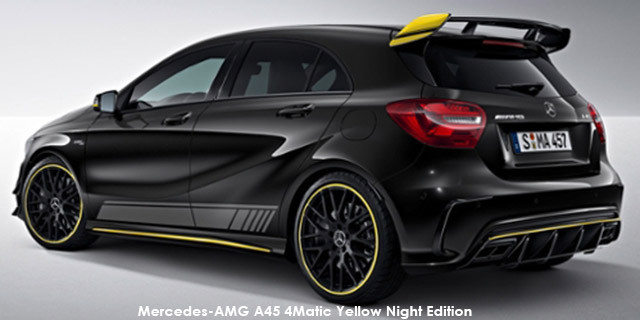 Mercedes-AMG A-Class A45 4Matic Yellow Night Edition Specs in South Africa - Cars.co.za