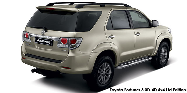 Toyota Fortuner 3 0D-4D 4x4 Ltd edition auto Specs in South