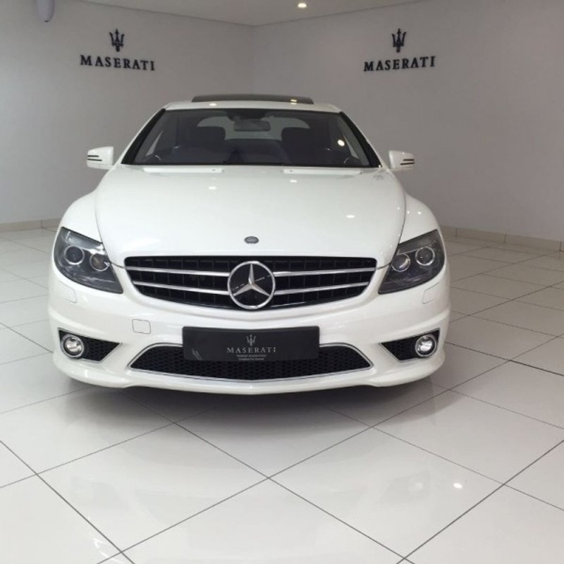 Used mercedes benz cl class cl63 amg 2010 50000km white for Mercedes benz cl63 for sale