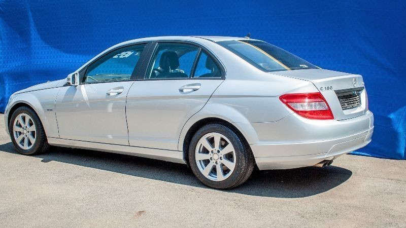 Used mercedes benz c class mercedes benz c180k a t blue for Silver spring mercedes benz service