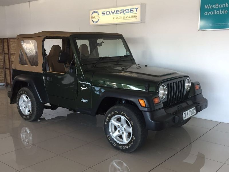 used jeep wrangler sport 4 0 straight 6 manual for sale in western cape id 1872069. Black Bedroom Furniture Sets. Home Design Ideas