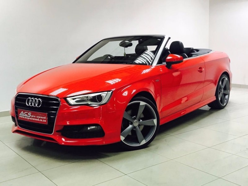 used audi a3 1 8t tfsi s line cabriolet s tronic 52000kms for sale in gauteng id. Black Bedroom Furniture Sets. Home Design Ideas