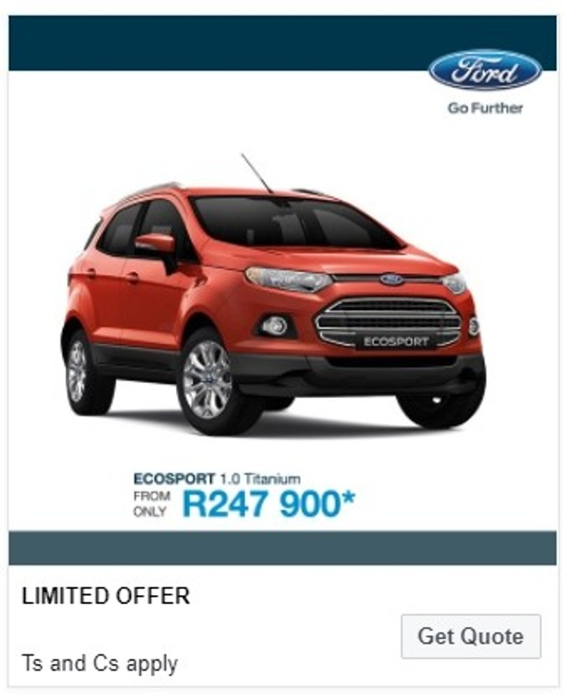 Used Ford EcoSport 1.0 EcoBoost Titanium Manual SUV For