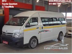 2012 Toyota Quantum 2.7 Sesfikile 16s Gauteng Johannesburg
