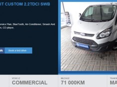 2014 Ford Transit 2.2TDCi Ambiente SWB FC Panel van Western Cape Somerset West