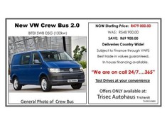 2017 Volkswagen Transporter T6 CBUS 2.0 BiTDi SWB 132 KW DSG FC PV Mpumalanga Secunda