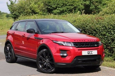 used land rover evoque 2013 range rover evogue red with. Black Bedroom Furniture Sets. Home Design Ideas